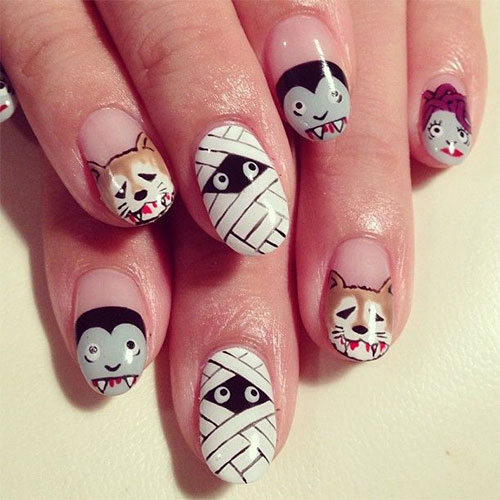 15-Halloween-Mummy-Nail-Art-Designs-Ideas-For-Girls-2015-1