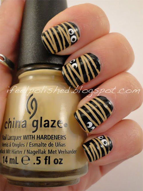 15-Halloween-Mummy-Nail-Art-Designs-Ideas-For-Girls-2015-10