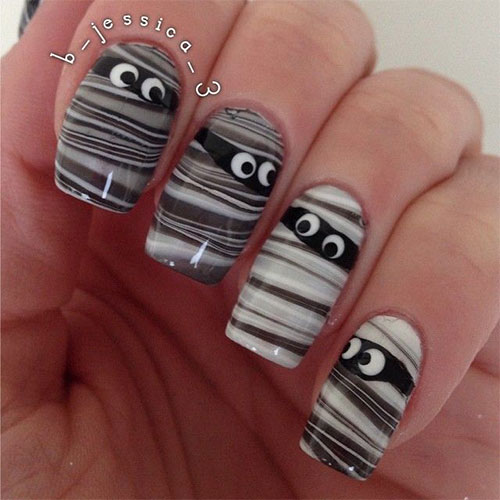 15-Halloween-Mummy-Nail-Art-Designs-Ideas-For-Girls-2015-11