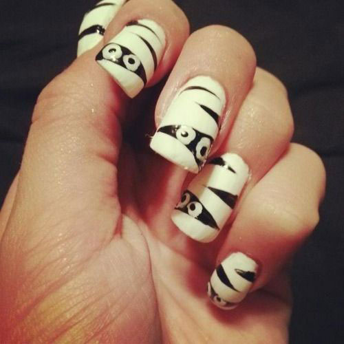 15-Halloween-Mummy-Nail-Art-Designs-Ideas-For-Girls-2015-12