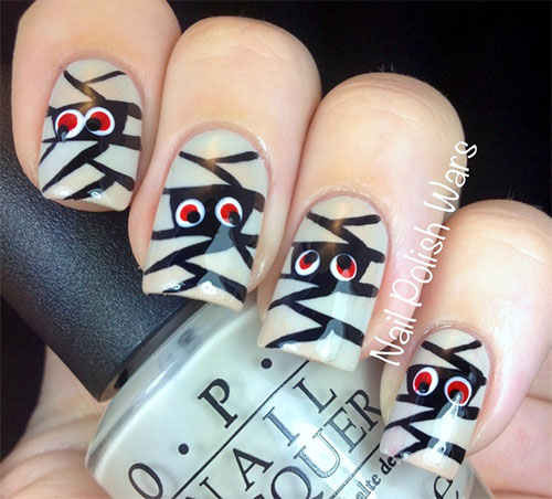15-Halloween-Mummy-Nail-Art-Designs-Ideas-For-Girls-2015-5