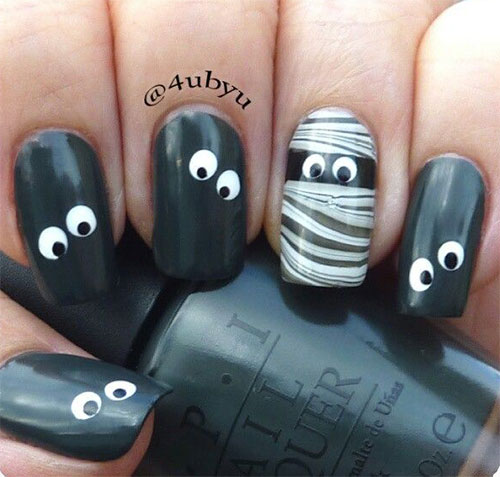 15-Halloween-Mummy-Nail-Art-Designs-Ideas-For-Girls-2015-7