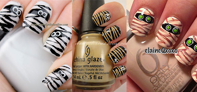15-Halloween-Mummy-Nail-Art-Designs-Ideas-For-Girls-2015-F