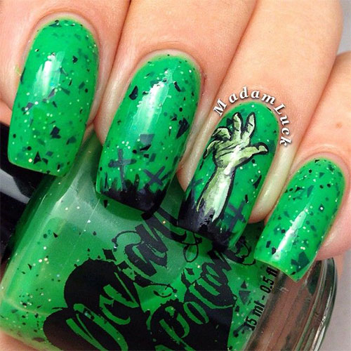 18-Zombie-Nail-Art-Designs-Ideas-Stickers-For- - 18 Zombie Nail Art Designs, Ideas & Stickers For Halloween 2015