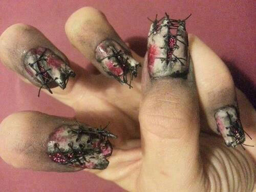 18-Zombie-Nail-Art-Designs-Ideas-Stickers-For-Halloween-2015-16