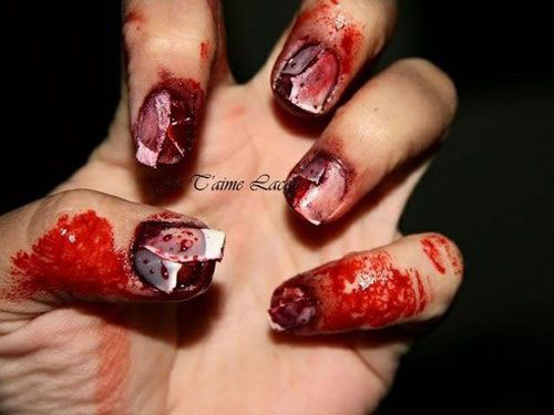 20 Scary Halloween Nail Art Designs Ideas Trends
