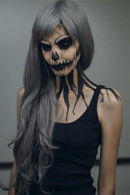 15+ Amazing Halloween Skull Make Up looks, Trends & Ideas 2015 ...