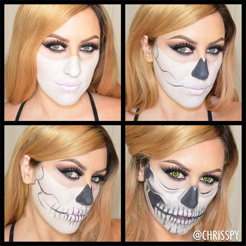 15 best easy halloween makeup tutorials for beginners - Halloween Tutorials