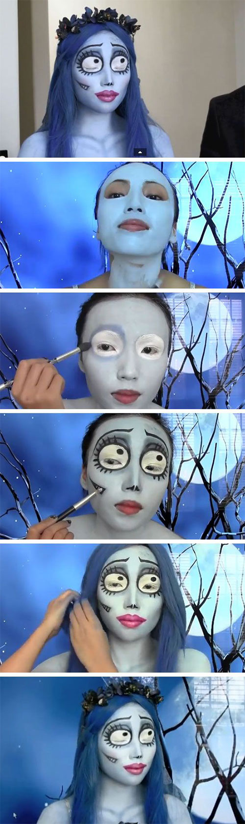 15-Best-Easy-Halloween-Makeup-Tutorials-For-Beginners-Learners-2015-5