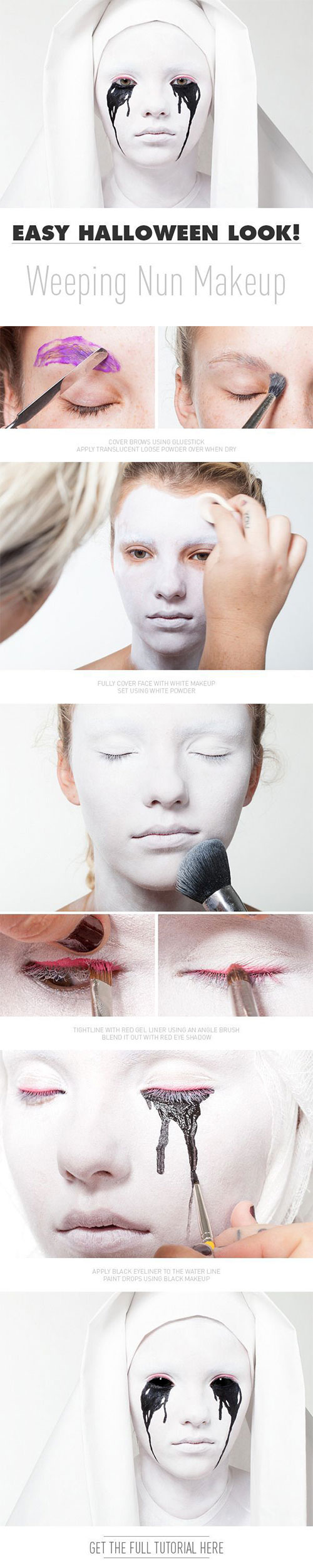 15-Best-Easy-Halloween-Makeup-Tutorials-For-Beginners-Learners-2015-9