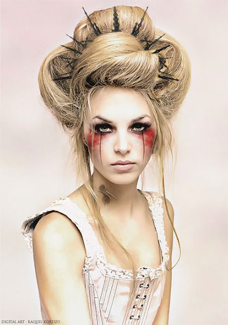 15-Creative-Halloween-Bride-Face-Make-Up-Styles-looks-Trends-2015-10