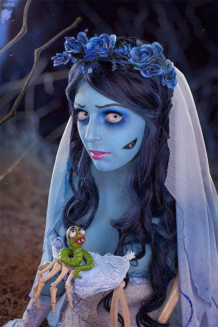 15+ Creative Halloween Bride Face Make Up Styles, looks & Trends ...
