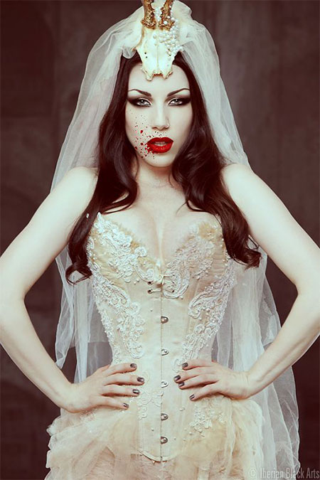 15-Creative-Halloween-Bride-Face-Make-Up-Styles-looks-Trends-2015-2