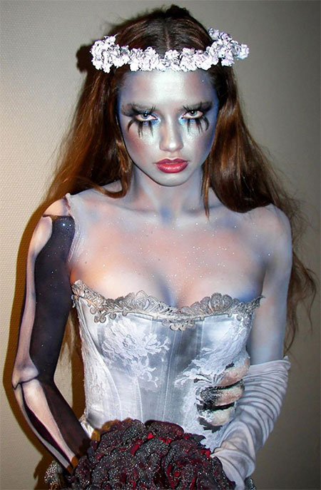 15-Creative-Halloween-Bride-Face-Make-Up-Styles-looks-Trends-2015-4