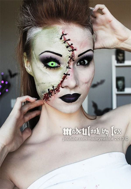 15-Creative-Halloween-Bride-Face-Make-Up-Styles-looks-Trends-2015-9