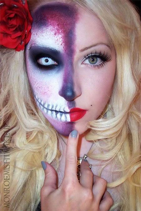 15-Halloween-Half-Face-Teeth-Mouth-Make-Up-Ideas-2015-1