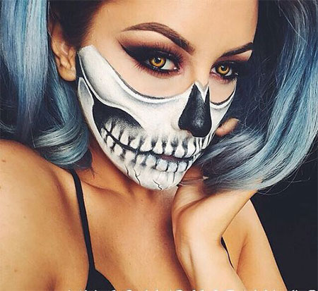15-Halloween-Half-Face-Teeth-Mouth-Make-Up-Ideas-2015-13