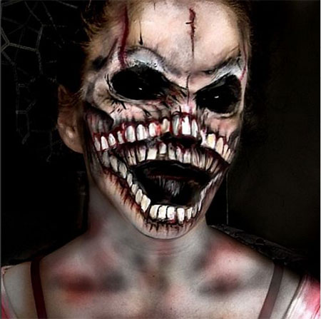 15-Halloween-Half-Face-Teeth-Mouth-Make-Up-Ideas-2015-14