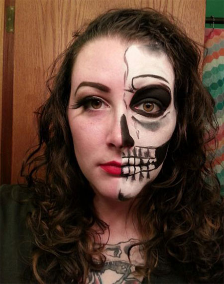 15-Halloween-Half-Face-Teeth-Mouth-Make-Up-Ideas-2015-2