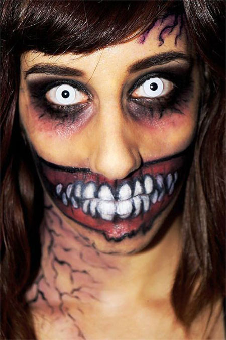 15-Halloween-Half-Face-Teeth-Mouth-Make-Up-Ideas-2015-5