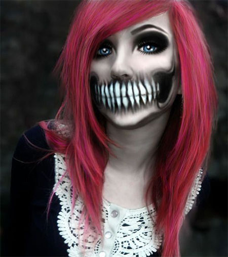 15-Halloween-Half-Face-Teeth-Mouth-Make-Up-Ideas-2015-7