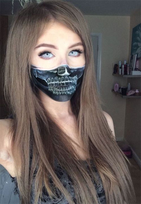 15-Halloween-Half-Face-Teeth-Mouth-Make-Up-Ideas-2015-8
