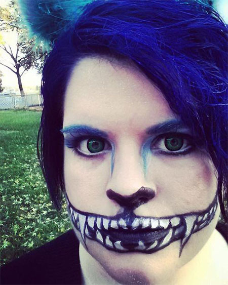 15-Halloween-Half-Face-Teeth-Mouth-Make-Up-Ideas-2015-9