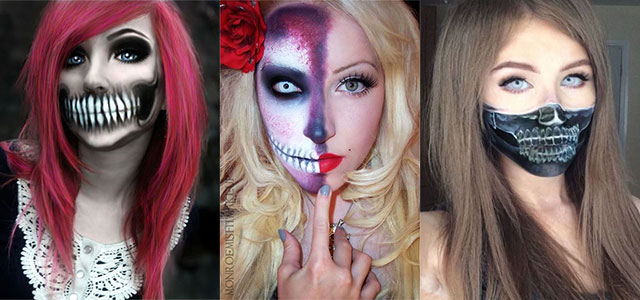 15-Halloween-Half-Face-Teeth-Mouth-Make-Up-Ideas-2015-F