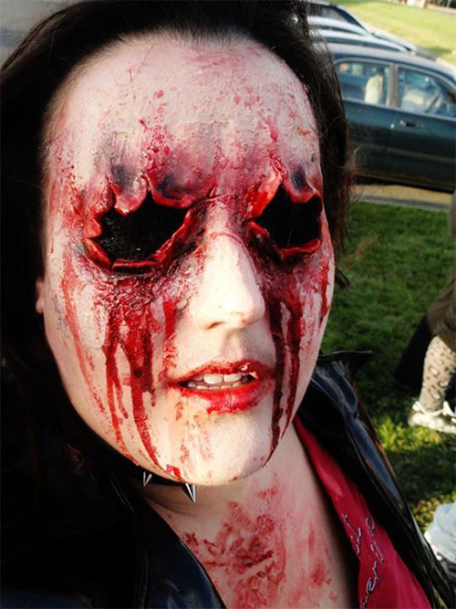 25+ Scary Halloween Make Up Looks Trends &amp Ideas 2015 - Cool Halloween Makeup For Girls
