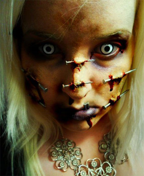 Very Scary Halloween Decorations: 25+ Scary Halloween Make Up Looks, Trends & Ideas 2015