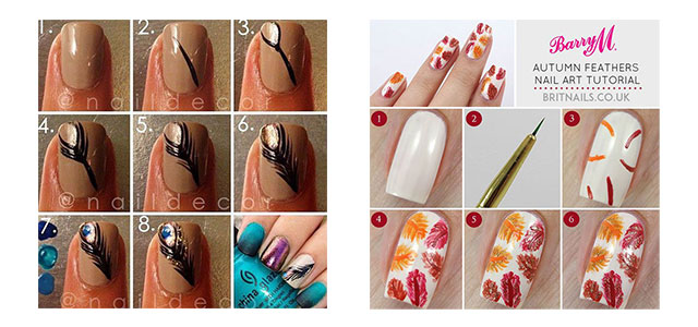 Easy-Simple-Step By-Step-Fall-Nail-Art-Tutorials-For-Learners-2015-F