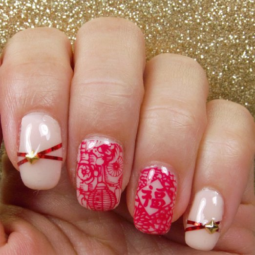 10 Ideas for Chinese New Year Nail Art 2016 - 8