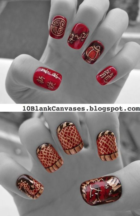 10 Ideas for Chinese New Year Nail Art 2016 - 5