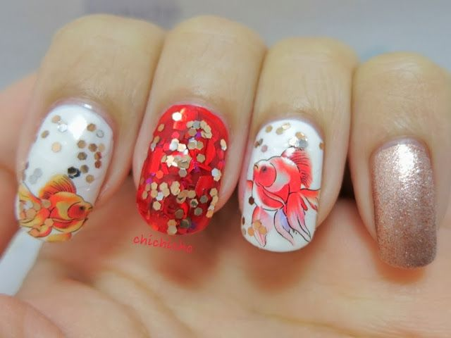 10 Ideas for Chinese New Year Nail Art 2016 - 7