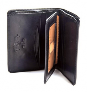 Italian Cow Leather Wallet with ID Window
