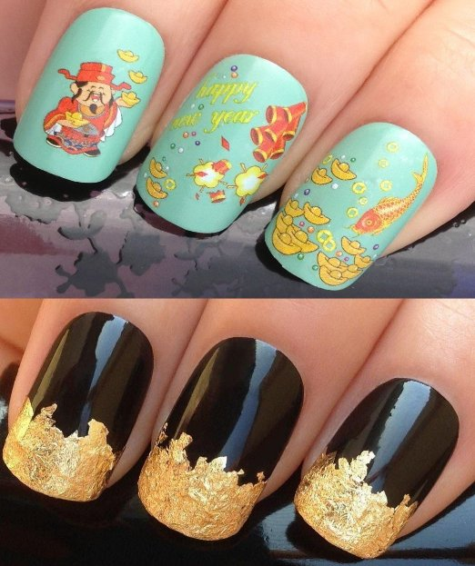 10 Ideas for Chinese New Year Nail Art 2016 - 6