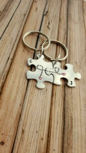 Personalized Couple Keychains