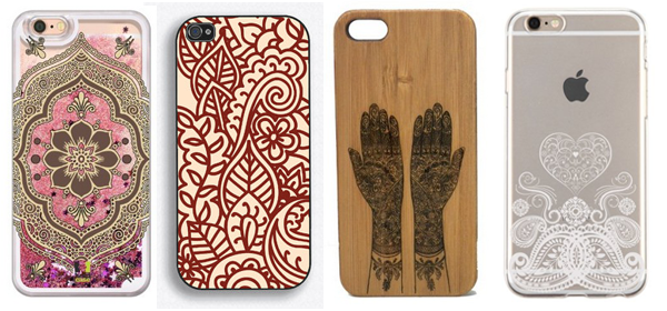 25 Henna Mehndi iPhone 6-6S Cases