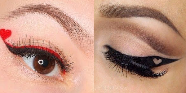 Eyeliner Ideas for Valentine's Day 2016