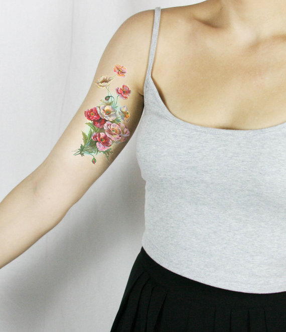 20 Floral Tattoo Ideas for Spring 2016 20