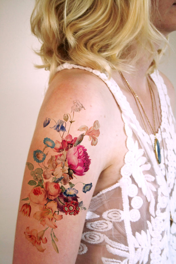 20 Floral Tattoo Ideas for Spring 2016 1