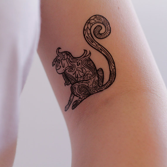 Zodiac Monkey Tattoo Sticker