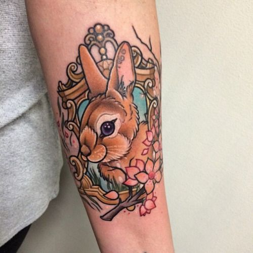 Easter Bunny Tattoo Ideas 3