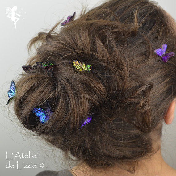 Wedding Butterfly Hairpins 2016 2