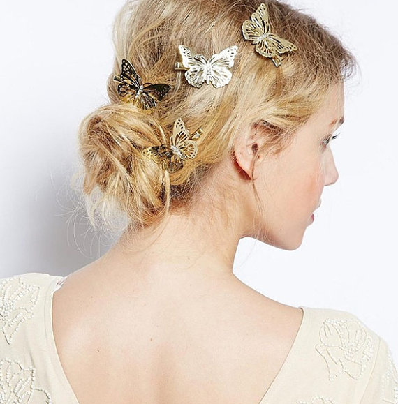 Wedding Butterfly Hairpins 2016 3