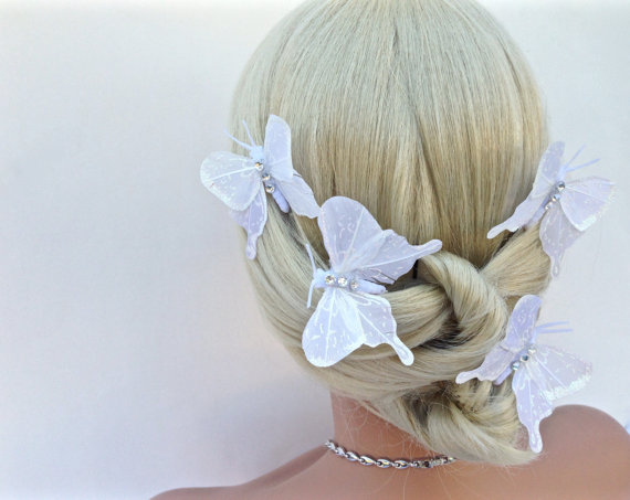 Wedding Butterfly Hairpins 2016 4