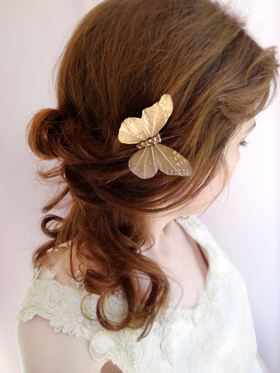 Wedding Butterfly Hairpins 2016 5