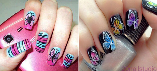 Butterfly Nail Art Ideas 2016
