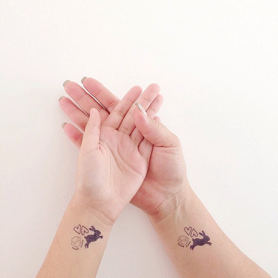 Easter Bunny Tattoo Ideas 1