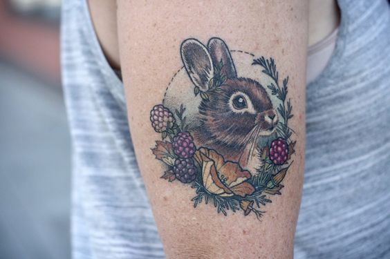 Easter Bunny Tattoo Ideas10